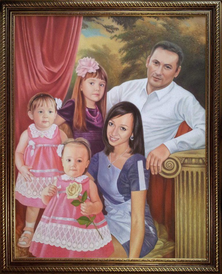 Семейный портрет маслом в Ставрополе — правильная традиция…