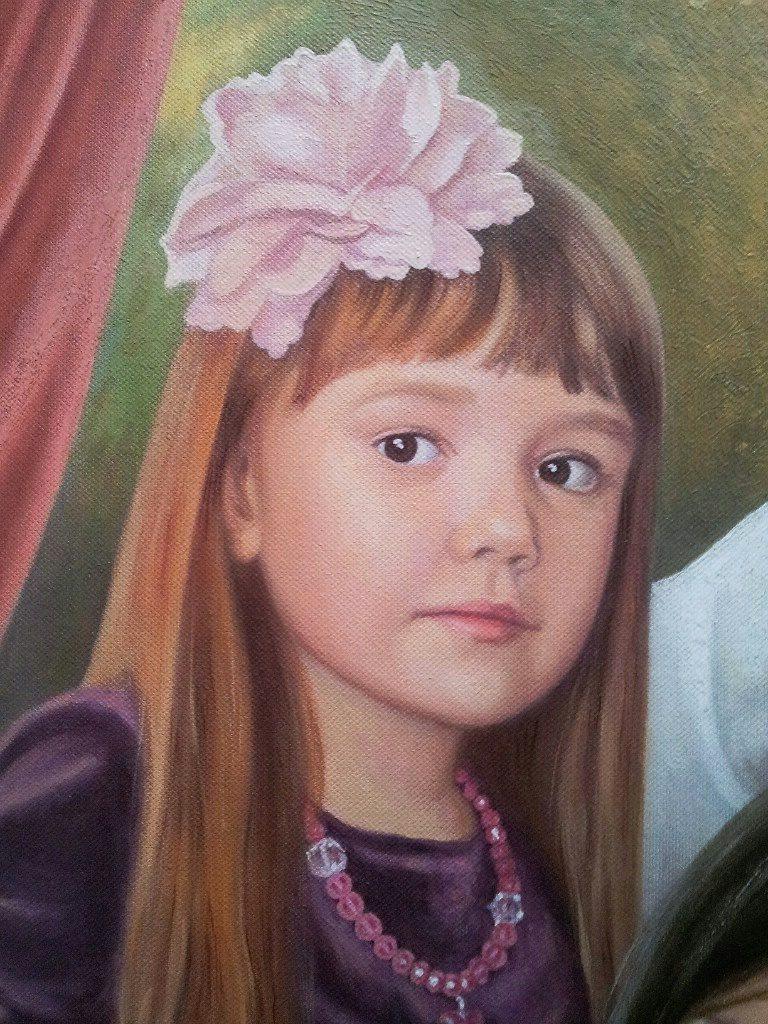 Семейный портрет на холсте Ставрополь