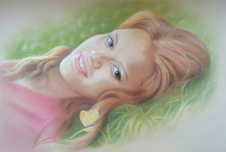 Настоящий портрет пастелью для любимой девушки в Ставрополе, просто и со вкусом!