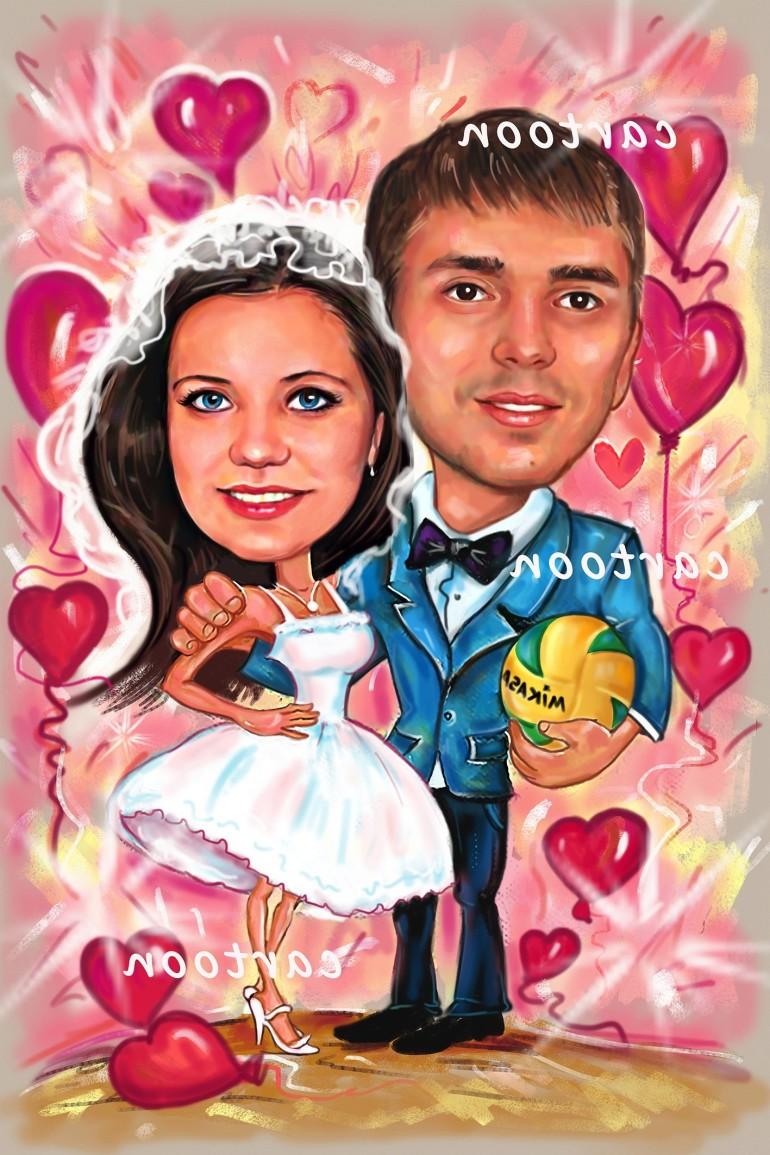 Свадебный шарж с оригинальным сюжетом в Ставрополе!