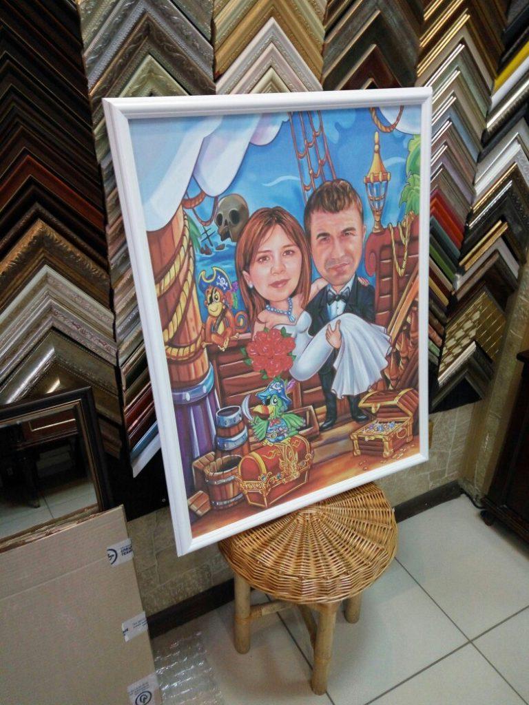 портрет шарж на заказ в Ставрополе