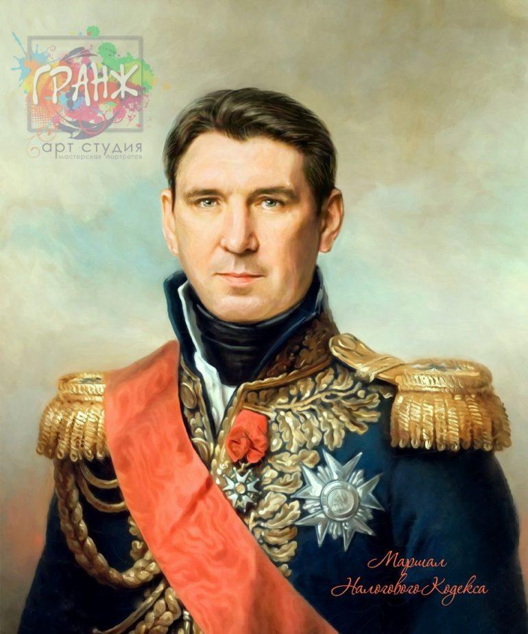 Портрет по фото на холсте в подарок мужчине на 23 февраля Ставрополь