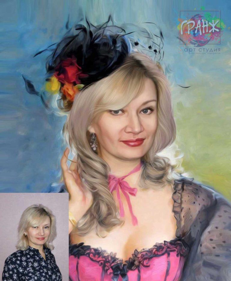 Заказать арт портрет по фото на холсте в Ставрополе