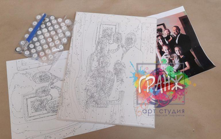 Картина по номерам по фото, портреты на холсте и дереве в Ставрополе